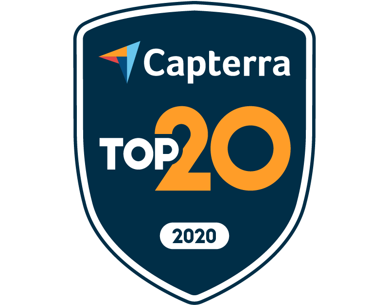 Capterra Top 20 for Membership Management Feb-20